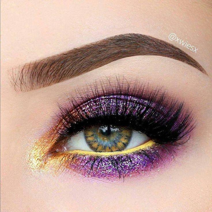 Machiaj de ochi stralucitor in nuante de roz si auriu. #OchiStralucitori #MachiajDeOchiCuSclipici