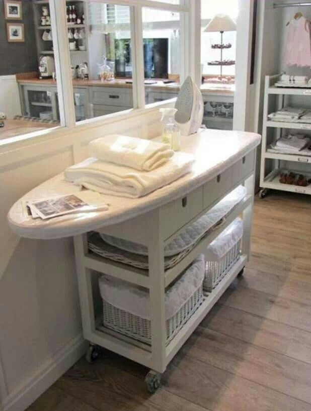 Could totally DIY for laundry room changing table and ironing board!