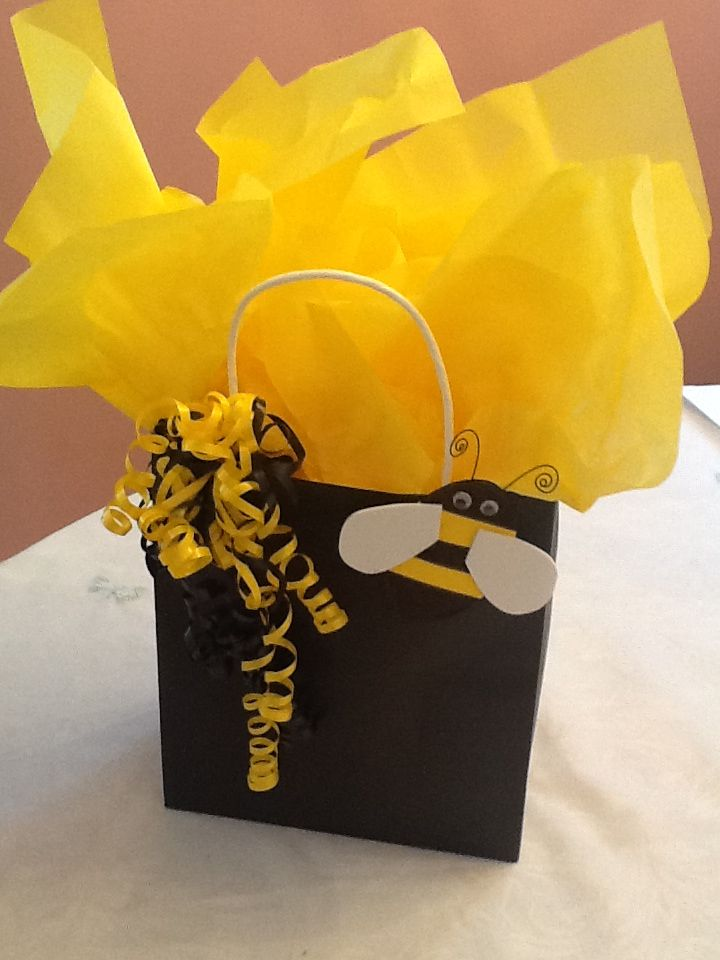 Bumble Bee Shower Gift Wrap For All Of The Extra Supplies Left Over From Making
