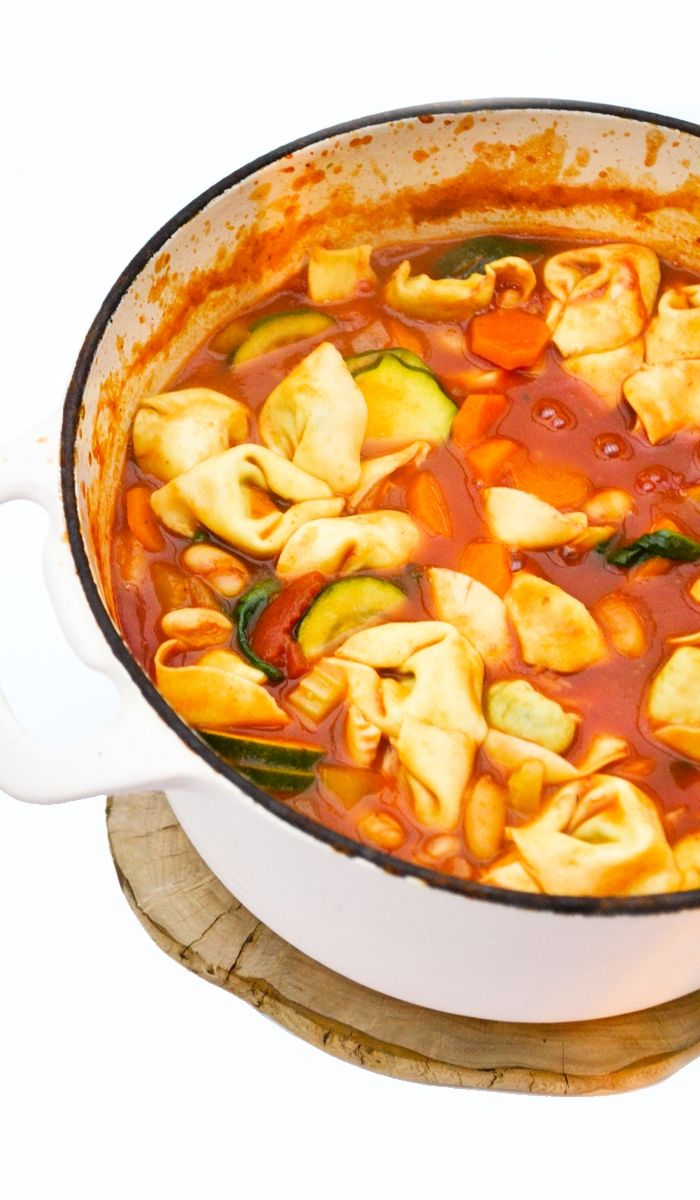 Minestrone with Tortellini Soup