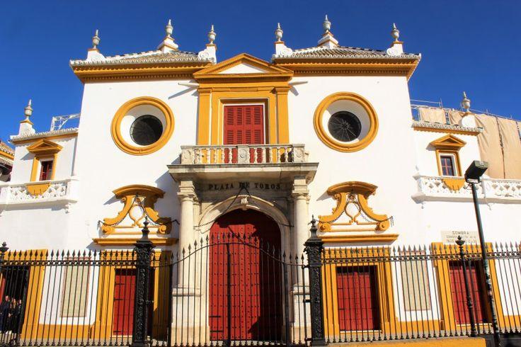 Plaza de Torros. Bullfighting ring in Sevilla. Spain