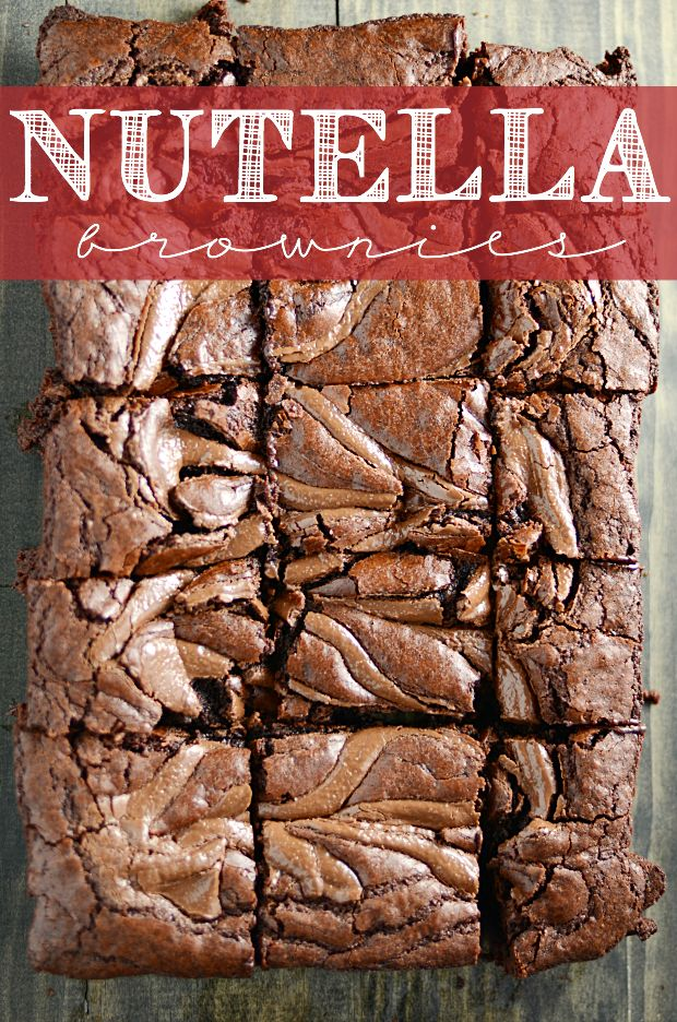 Nutella Brownies - thick, fudgy, and yummy! | Something Swanky