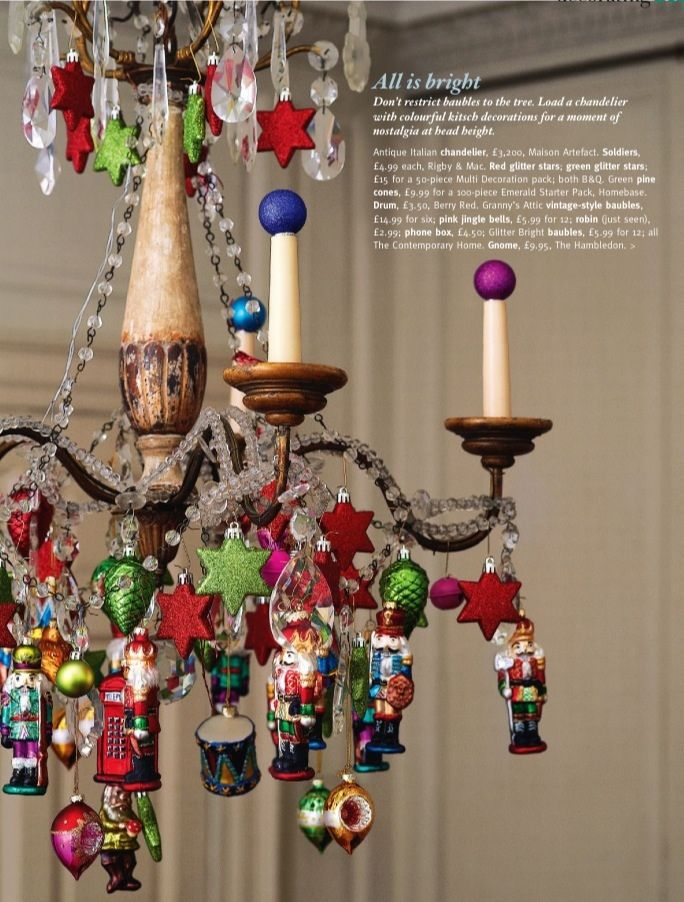 159 best 10 nutcracker christmas tree images on pinterest for Hanging ornaments from chandelier