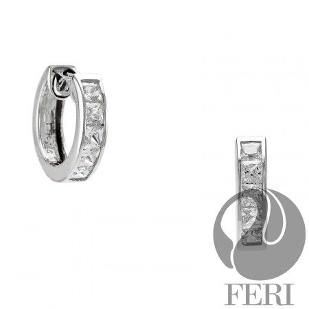 "5. Hoop earrings. For elegance, go with silver and top grade CZ. ""Endless Love"", from the FERI exclusive 950 silver line called Siledium."