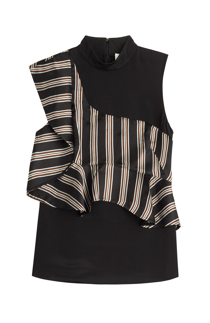 3.1 PHILLIP LIM Silk Sleeveless Blouse With Ruffles. #3.1philliplim #cloth #tops