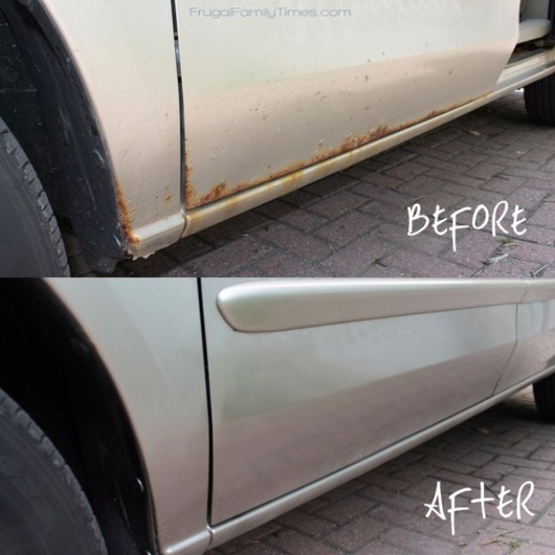 30 Insanely Cool Diy Ideas For Your Car Diy For My Home Pinterest Rust Removal Diy Car