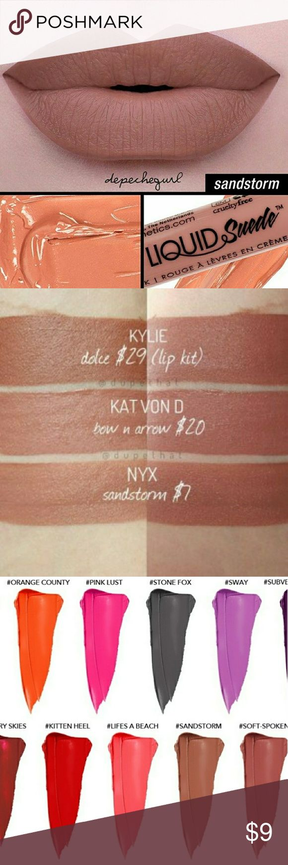 ❤NYX LIQUID SUEDE / Sandstorm 💜Nyx Liquid Suede/ Sandstorm.  ❤💕Sealed and New! Bundle and Gift!!  💌💜Christmas Bundle! 3/15 %off!!🎼🎶🎵 NYX Cosmetics Makeup Lipstick