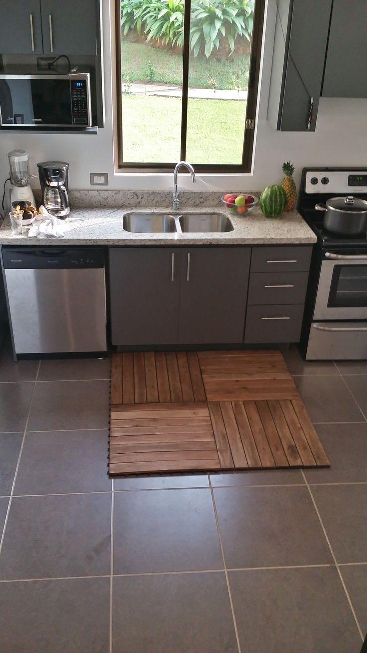 Flooring idea for your mobile home SNAP/GO interlocking Deck Tiles www.decktogo.com