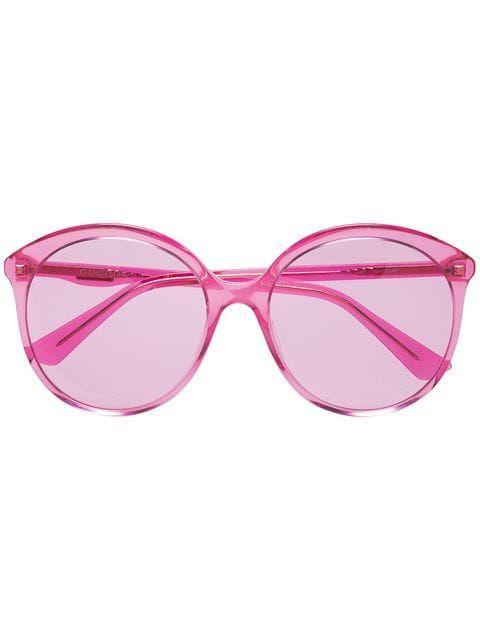 0a65833d2aa Gucci Eyewear lunettes de soleil à monture ronde. Gucci Eyewear lunettes de  soleil à monture ronde Round Frame Sunglasses
