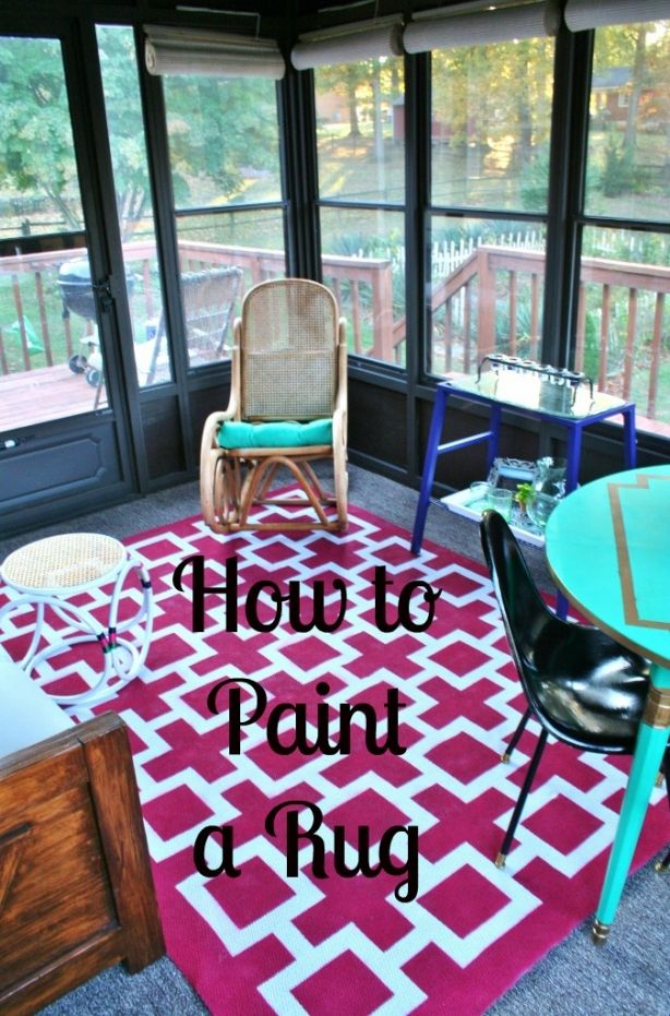 Paint a rug for MUCH less than you can buy it. It will be perfect and one of a kind! | www.rappsodyinrooms.com