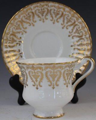 Vintage Paragon English Fine Bone China Porcelain Footed Tea Cup Saucer Set