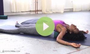 Meditation and Restorative Yoga for the Chest and Shoulders (VIDEO)
