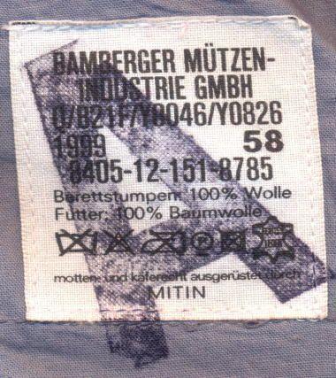 ドイツ連邦軍のベレー帽とベレー章
