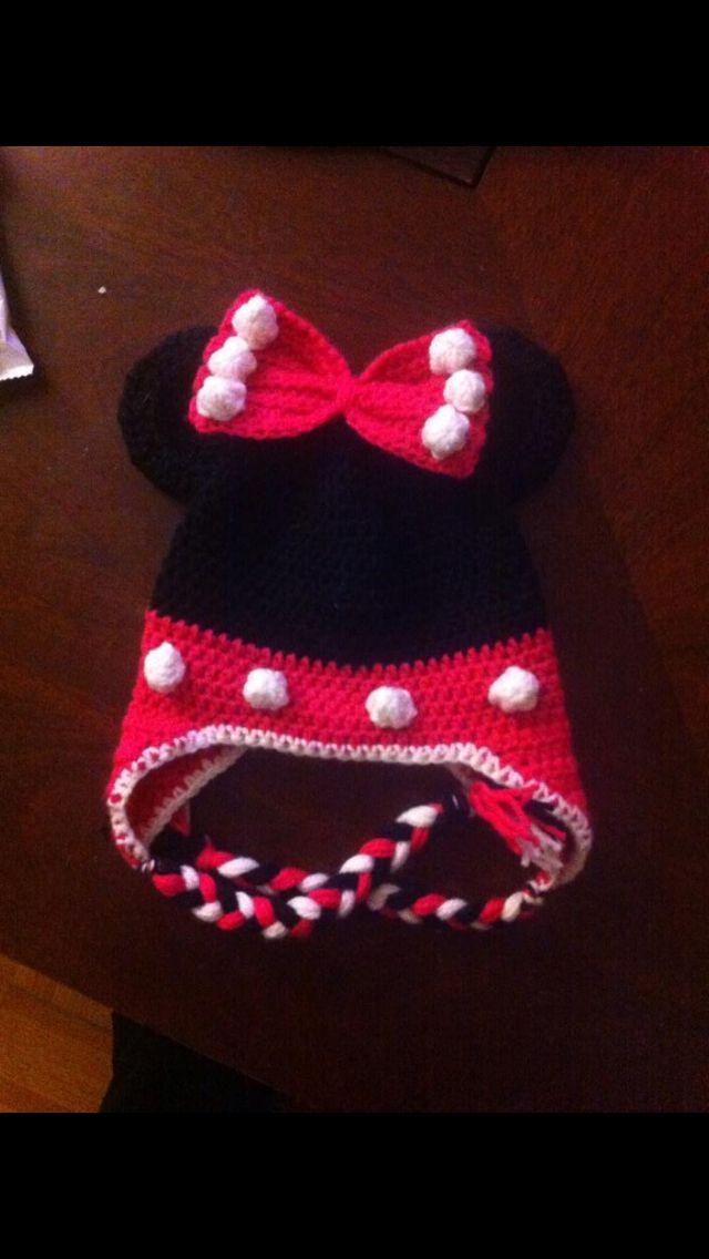 Crochet Mini Mouse hat