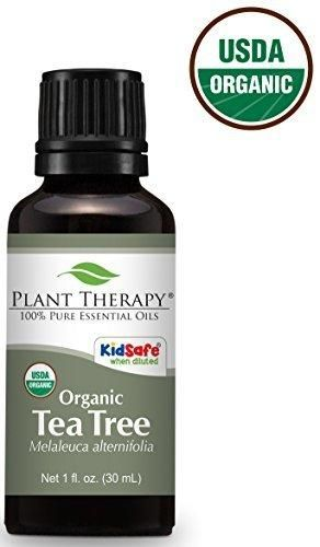 Plant Therapy USDA Certified Organic Tea Tree (Melaleuca) Essential Oil. 100% Pure Undiluted Therapeutic Grade. 30 ml (1 oz).
