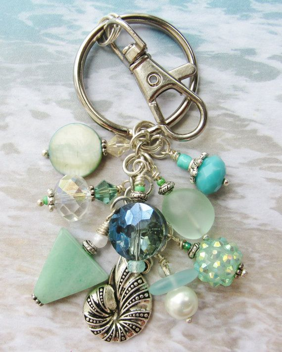 NAUTILUS BAG CHARM Keychain Backpack Charm by ThePaintedPearlSRQ