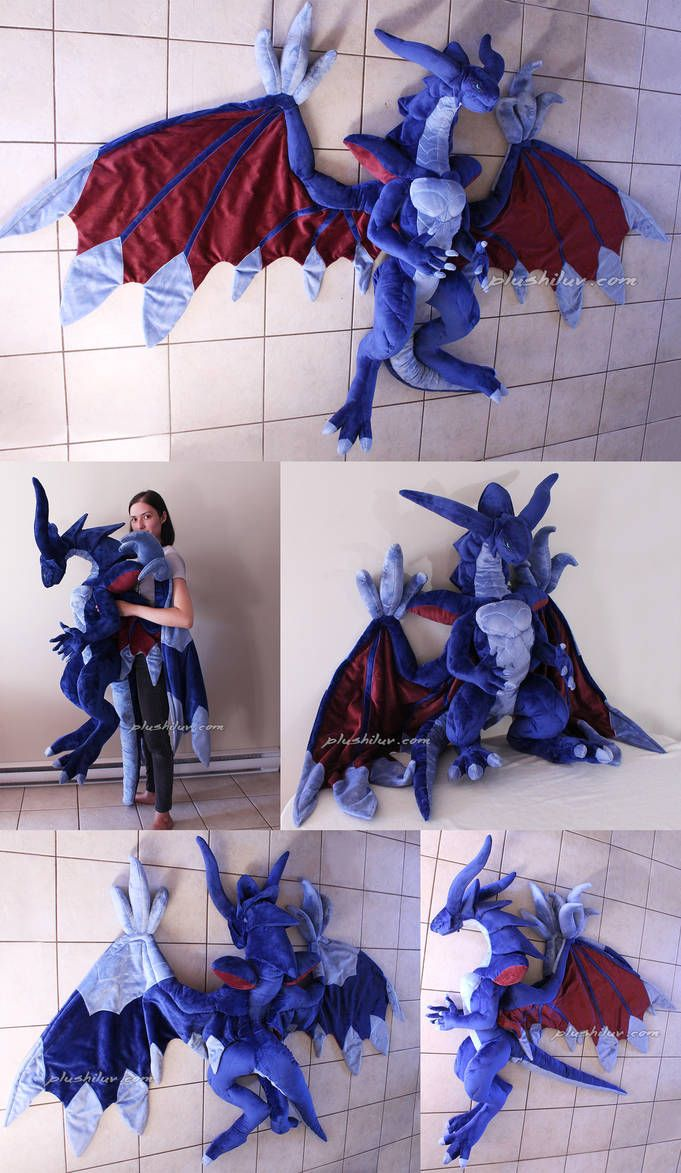 Giant Ff Viii Bahamut By Magnastorm Sewing Stuffed Animals Plushie Patterns Cute Fantasy Creatures [ 1173 x 681 Pixel ]