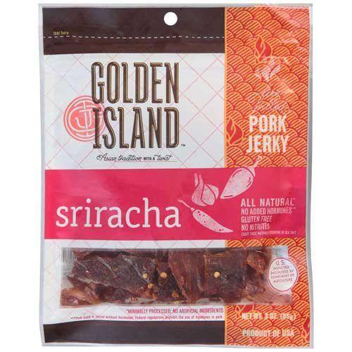 Golden Island Sriracha Pork Jerky, 3 Ounce -- 8 per case....