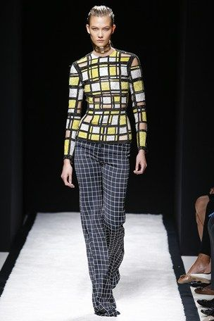 Balmain PFW S/S 15 (windowpane)