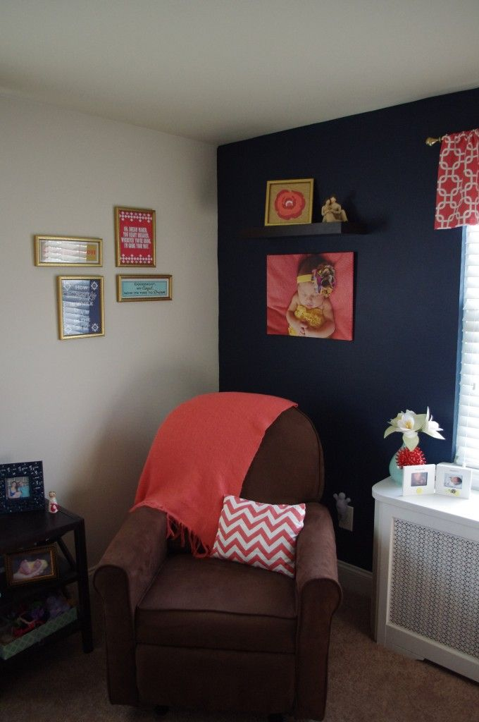 1000 images about Coral and Navy Nursery on Pinterest