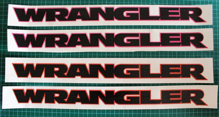"22""  2pcs (Pair) of 2-color vinyl sticker decal for JEEP WRANGLER  hood fender #Oracal"