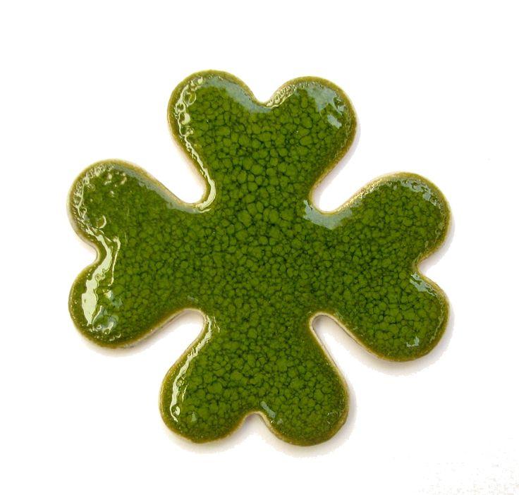st patricks day crafts, ceramic magnet , green