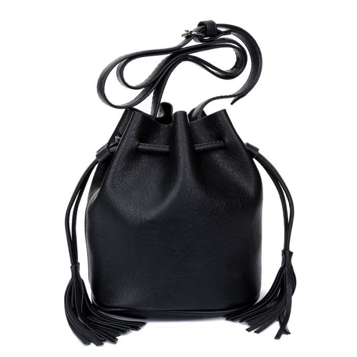 KGS Tas Casual Wanita Solid Mini Bucket Shoulder Bag 1053 - Hitam - Int: One size