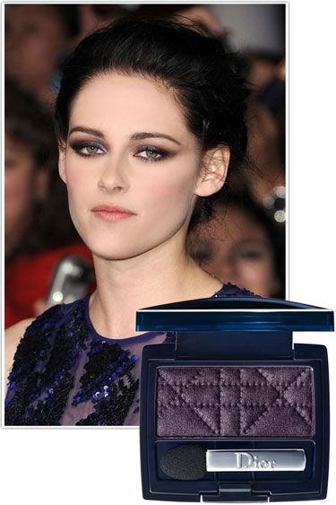 Kristen Stewart  Deep jewel-toned colors like amethyst impart a mysterious quality. Concentrate your application from the lash lines to the creases for the most impact.    Key product: Dior Powder Mono Eyeshadow in Ultra Violet, $29, dior.com.        Read more: Smoky Eyes on Celebrities - Best New Smoky Eye Looks - Harper's BAZAAR