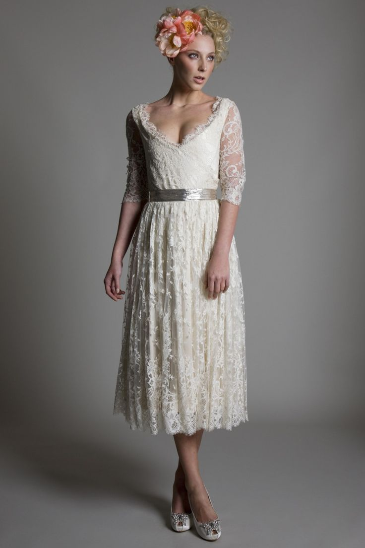 Halfpenny London  vintage short wedding dress www.halfpennylondon.com #Wedding #weddingdress