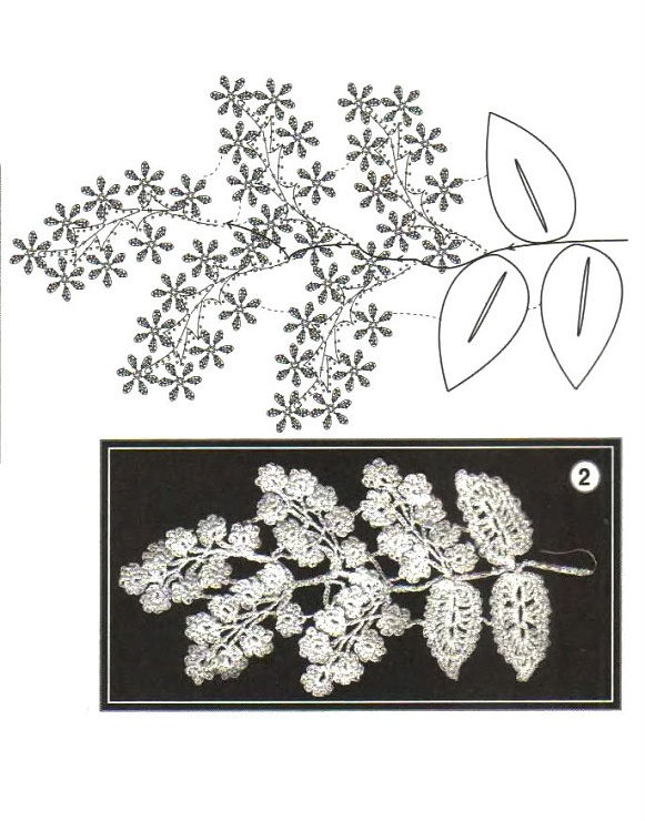 Dozens of pretty #crochet leaves & flowers with charts.