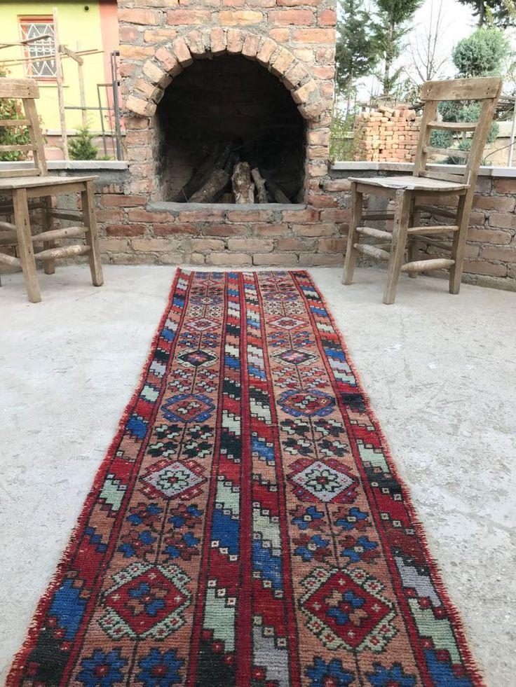 Runner Rug, Orange Rug,Nursery rug, New Home Gift, Unique