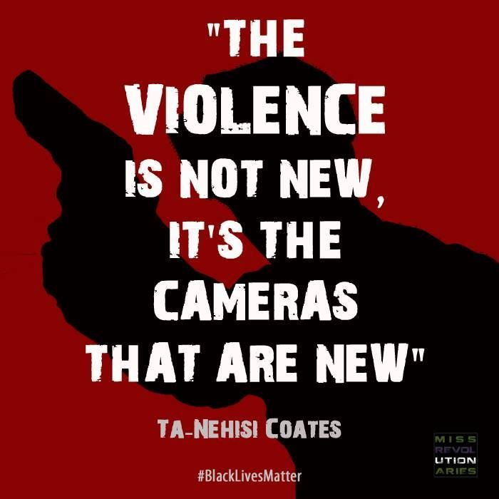 """The violence is not new, it's the cameras that are new.""  ~ Ta-Nehisi Coates #BlackLivesMatter  Follow this link to find a short post on how the Black Live movement is connected to the Black Power movement of the 60s and 70s: http://www.thesociologicalcinema.com/videos/the-black-lives-matter-movement-is-much-older-than-you-think"