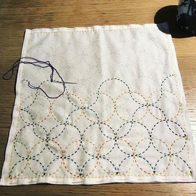 縫い 方 刺し子