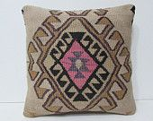 kilim pillow 18 tapestry pillow cover boho bedroom chair pillow case large floor cushion urban throw pillow ethnic rug bed pillow sham 25953