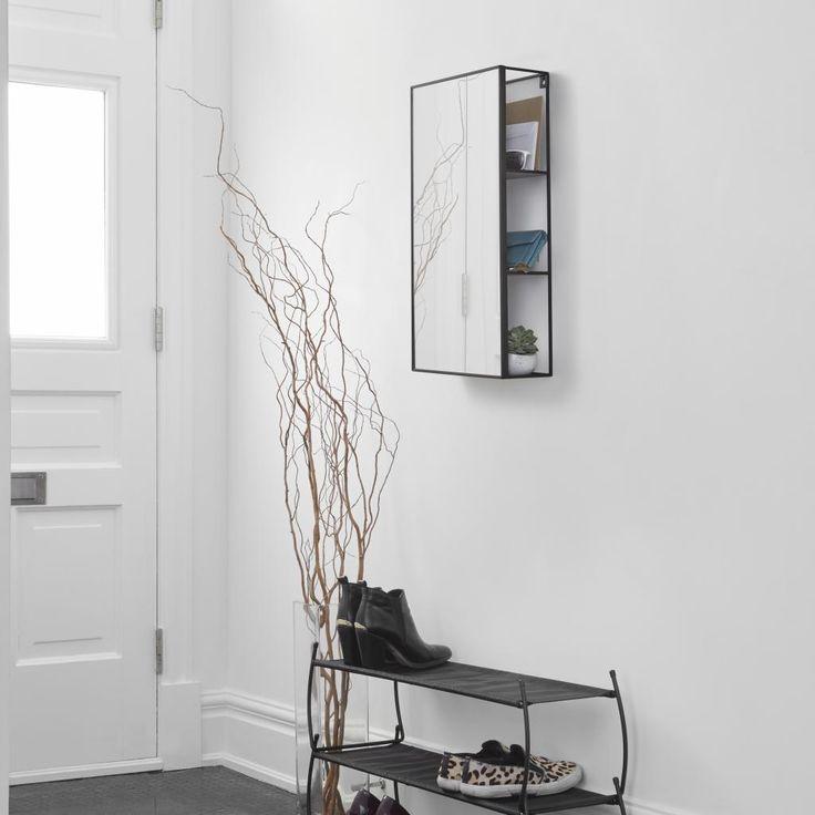 Badkamerkast Cubiko - Met spiegel - Metaal - Spiegelglas - Umbra