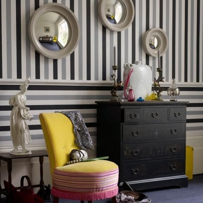 Decorating With Stripes For A Stylish Room: 1000+ Ideas About Striped Walls Horizontal On Pinterest
