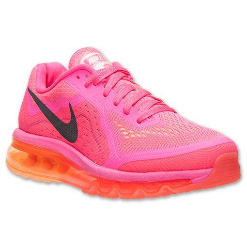 Women\u0026#39;s Nike Air Max 2014 Running Shoes | Finish Line | Hyper Pink/Peach Cream