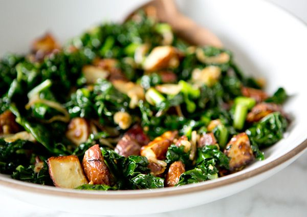 WILTED KALE AND ROASTED POTATO SALAD  - a house in the hills - interiors, style, food, and dogs