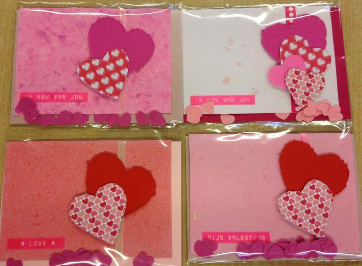 #kaarten #hart #papierscheppen #valentijn #lettertang #kinderen