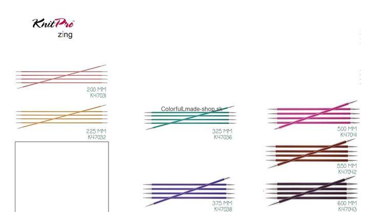 KnitPro Zing - ponožkové ihlice kovové 2,0