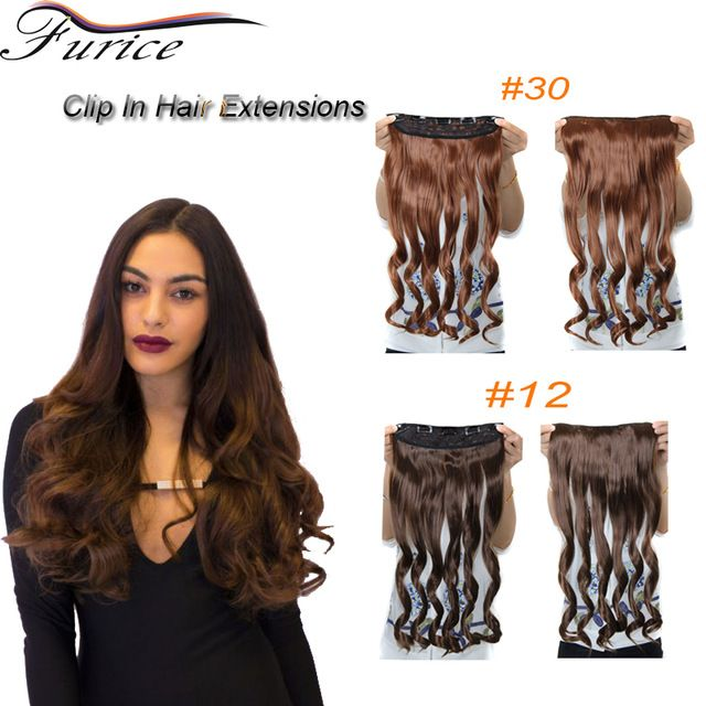 Synthetic Hair Extensions Long Wavy Curly Free Shipping 255inch 65cm 120g One Piece