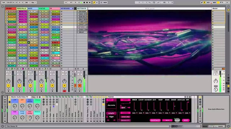 Interactive Ableton Live Audio-Visual Template