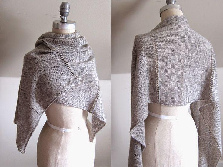 MES FAVORIS TRICOT-CROCHET: Modèle gratuit : Une étole au tricot