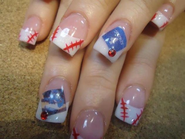 The 25 best sports nail art ideas on pinterest softball nails nails by itslulu74nailz nail art gallery nailartgalleryilsmag by nails magazine baseball toesdining prinsesfo Images