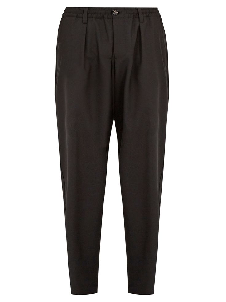 Click here to buy Marni Mid-rise tapered-leg wool cropped trousers at MATCHESFASHION.COM