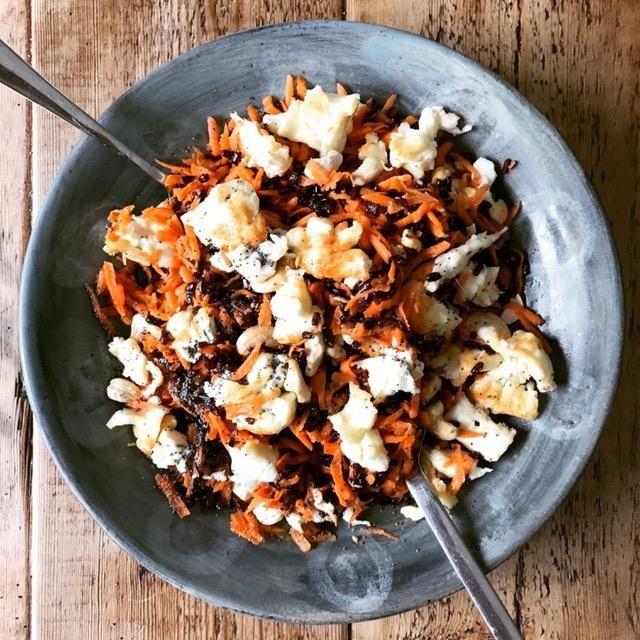 Black rice salad recipe ##veganrecipes #vegetarian #ricesalad #blackrice #veggierecipe