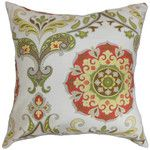 Pillow Perfect Indira Cardinal Cotton Throw Pillow & Reviews | Wayfair