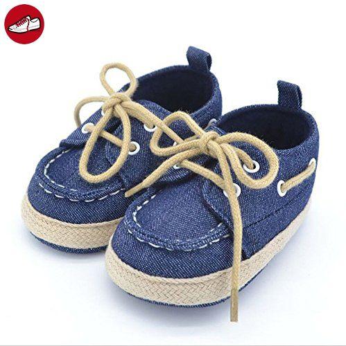 Baby Schuhe Babyschuhe Erstschuhe Baumwolle Lauflernschuhe Schnürschuhe (2, Jeansblau) (*Partner-Link)