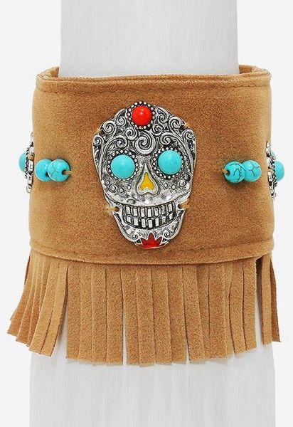 Armbänder & Armreife - Armband DAY OF THE DEAD  Fransen Festival Mexiko - ein Designerstück von santa-fee bei DaWanda