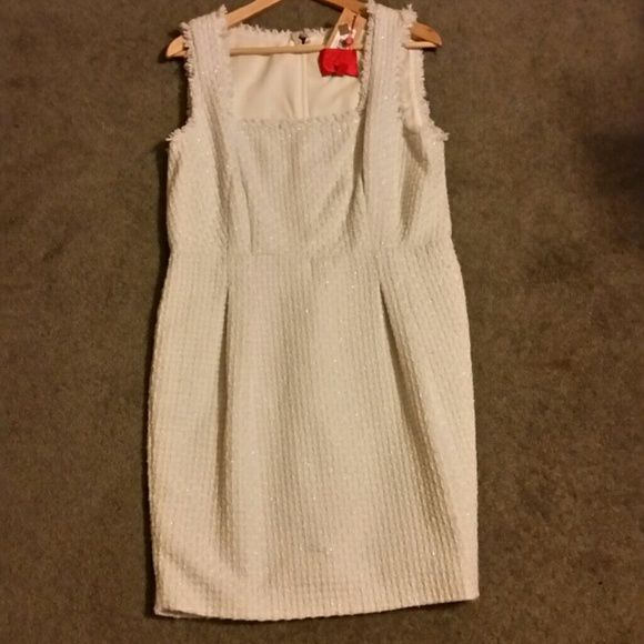Zac Posen antique white and silver dress Z Spoke from Zac Posen antique white tweed textured dress, nwt, never worn beautiful for upcoming holidays Zac Posen Dresses